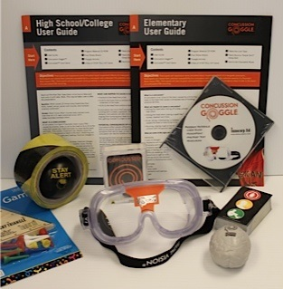 Concussion simulation kit