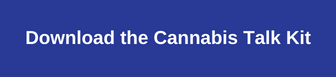 Blue cannabis talk kit button